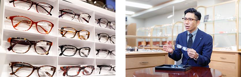 東京メガネ全店のフレームの中から、お客様に最適の1点を選びご提案します