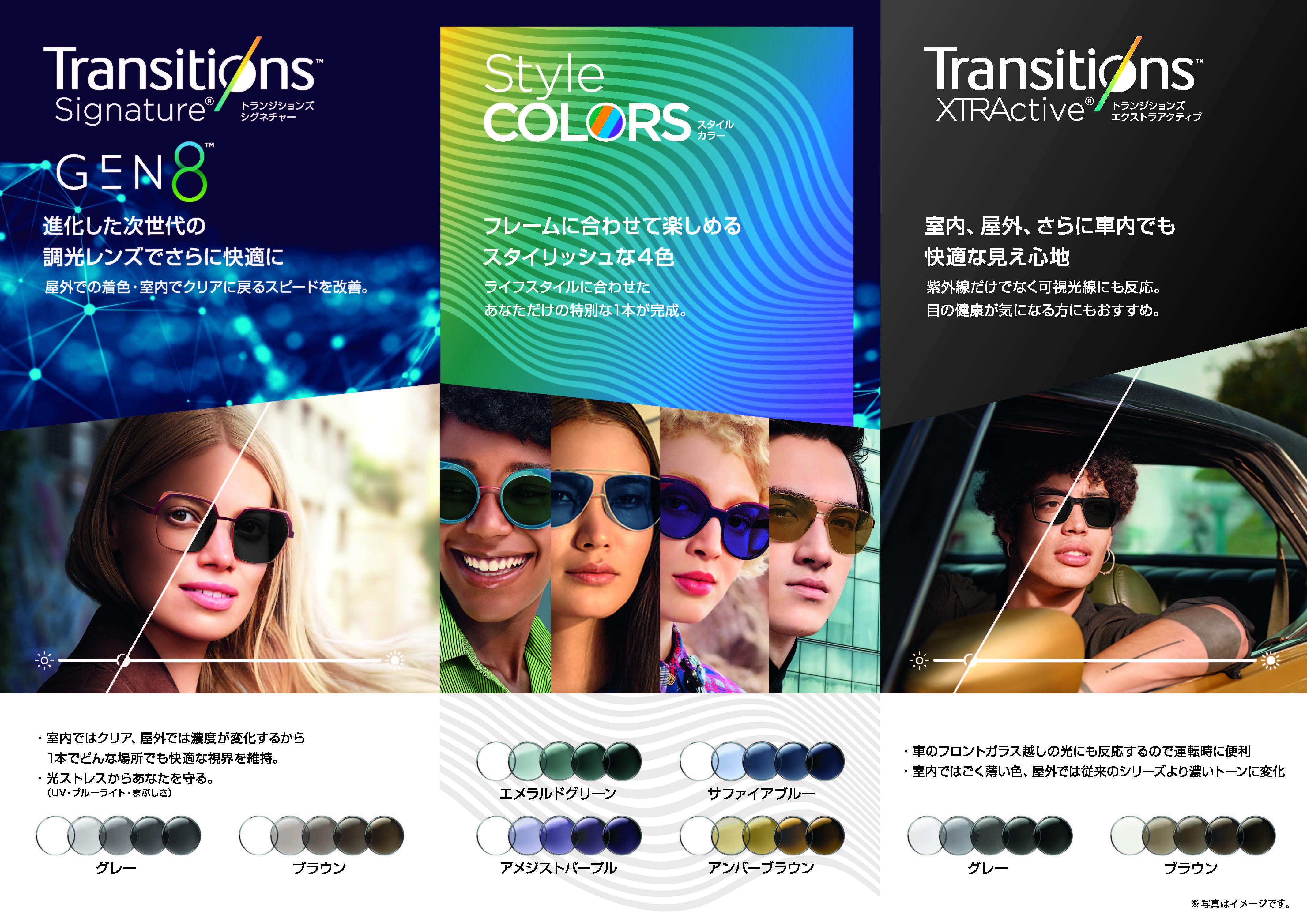 次世代の調光レンズ トランジションズシリーズ
